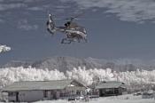 Helikopter Mendarat di Wilayah Tambang Emas Dompu